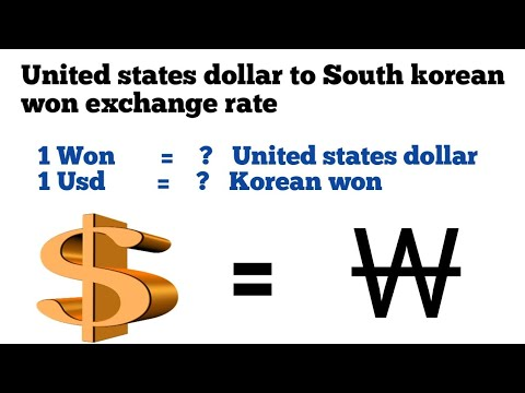 Usd To Won|won To Usd|dollar To Won|United States Dollar To Korean Won Exchange Rate
