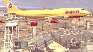GTA 5 - 18 cenas audaciosas E DESTRUIDORAS com aviões - Parte 1 ( versão normal SEM ZOEIRAS )