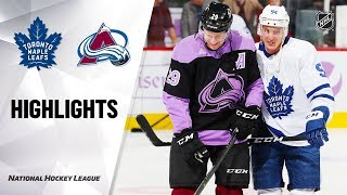 NHL Highlights | Maple Leafs @ Avalanche 11/23/19