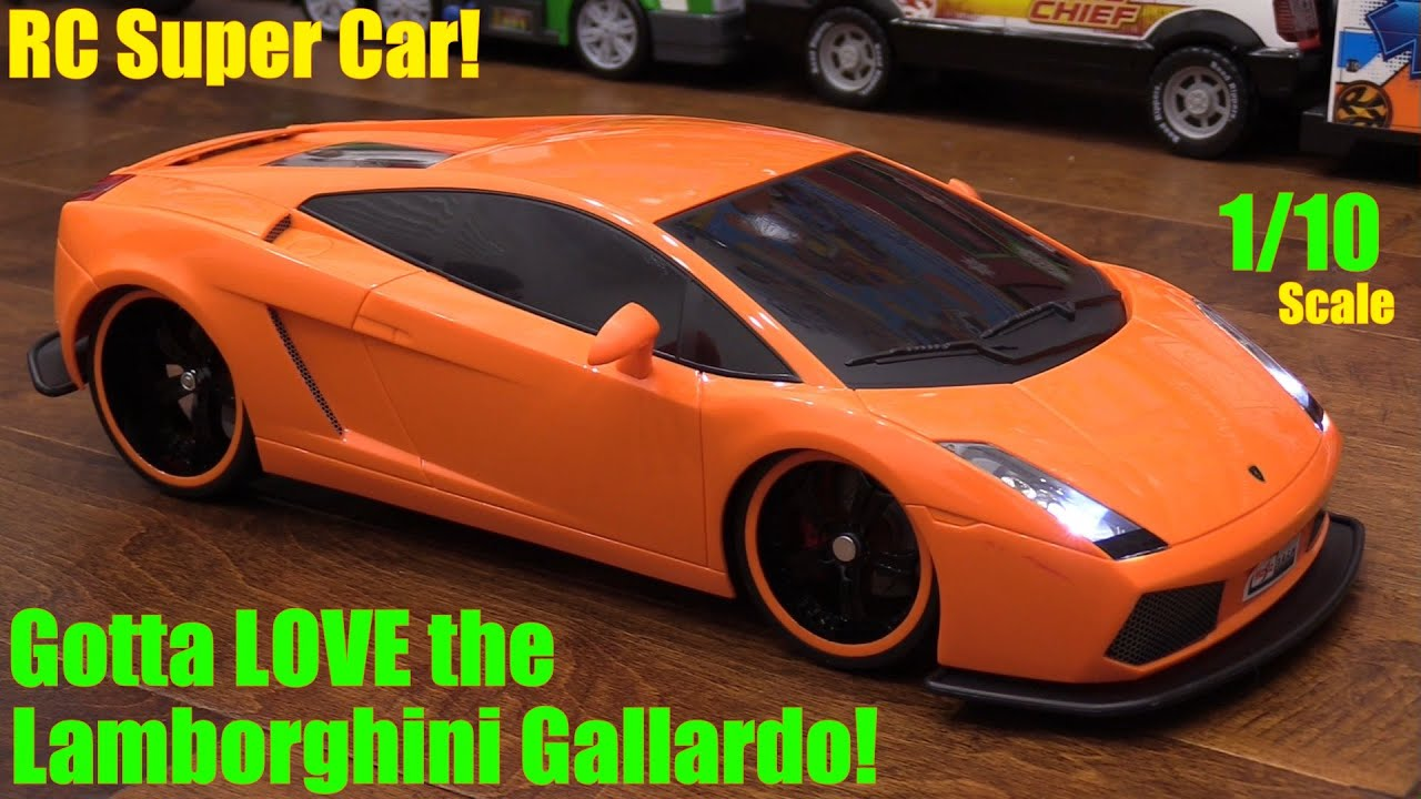 RC Toy Cars: 1/10 Scale Lamborghini Gallardo Remote Control Sportscar  Unboxing And Test Drive   YouTube