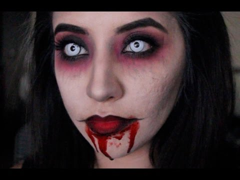 Vampire Halloween Makeup Tutorial - YouTube