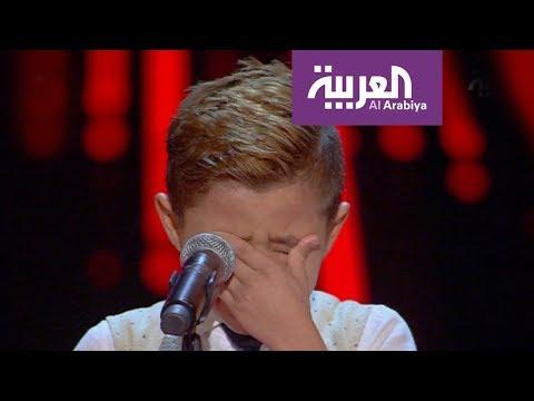 طفل فلسطيني يبكي فريق صباح العربية
