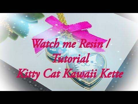 Watch me Resin / Tutorial / DIY Kitty Cat Kette im Kawaii Stil