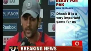 vuclip Indo-Pak WC semi-final clash: Dhoni- Afridi lock horns