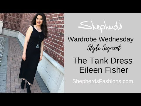 Shepherd's Wardrobe Wednesday - The Eileen Fisher System Tank Dress