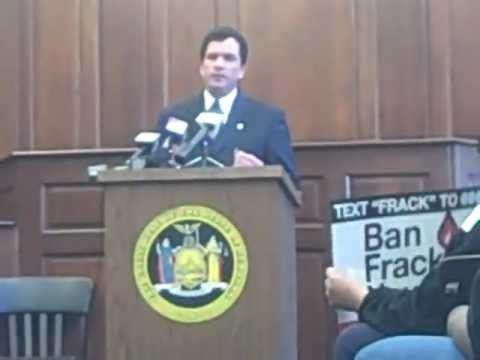 April 6th, N.Y. Sen. Grisanti With Occupy Buffalo On 5 Bills for Hydrofracking NYS