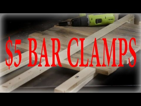 DIY Wood Bar Claps For under $5.00