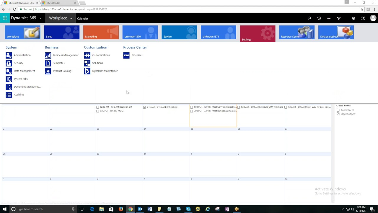 my calendar for dynamics 365 crm youtube