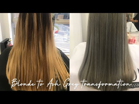FROM BLONDE TO ASH GREY HAIR TRANSFORMATION ❤️