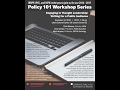 IRRPP Policy 101 Workshop: Engaging in Thought Leadership, Nov. 10, 2016