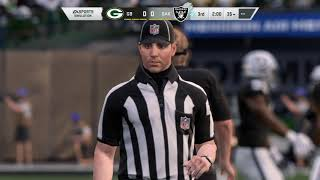 Madden NFL 20 Preseason Wk 3 Green Bay Packers vs  Oakland Raiders 4K graphics