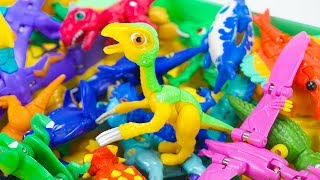 Dino Mecard New Tiny Saur Therizinosaurus Saves Dinosaur Friends from Villains | ToyMoon