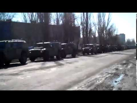 Russian Troops In Armyansk, Border of Crimea and Mainland in Ukraine