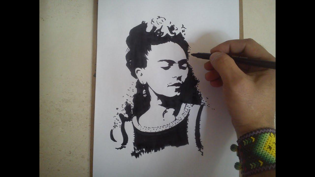 Frida Kahlo Para Dibujar