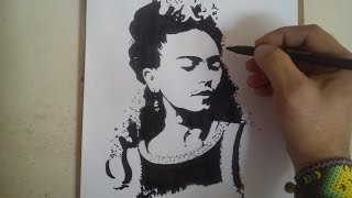Como dibujar a frida kahlo / HOW TO DRAW A FRIDA KAHLO