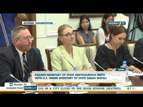 Kazakh Secretary of state Abdykalikova meets with U.S. under Secretary of State Sarah Sewall