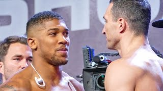 Download ANTHONY JOSHUA vs WLADIMIR KLITSCHKO FACE OFF & WEIGH IN Mp3 and Videos