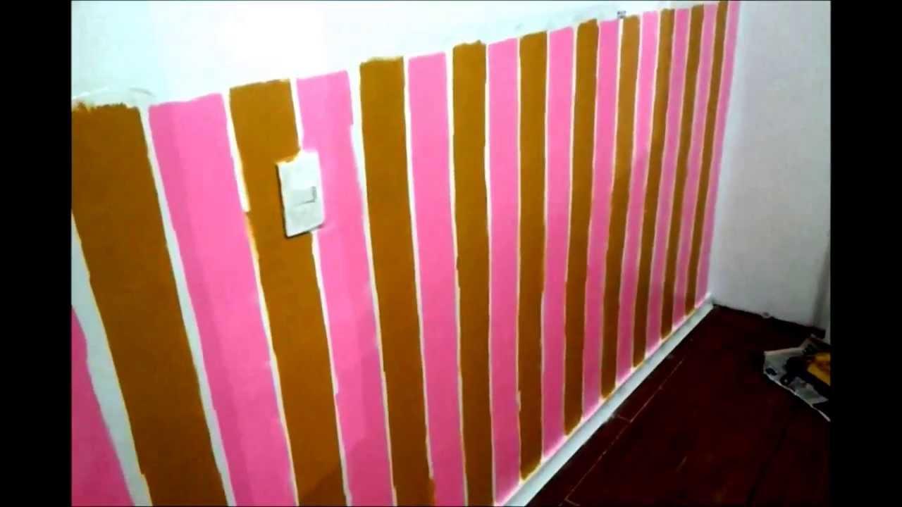 Como Pintar Listras em quarto de Beb  Parte 04  YouTube