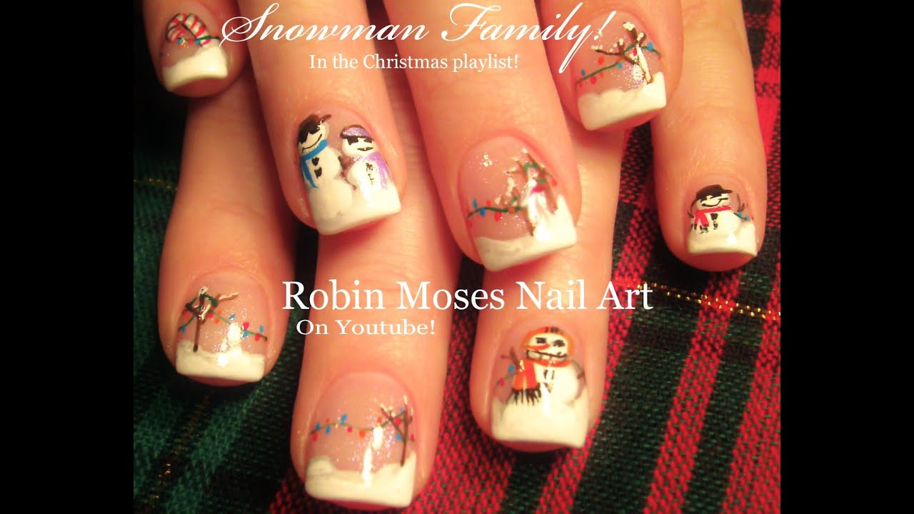 Easy christmas nails winter snowman scene fun nail art design easy christmas nails winter snowman scene fun nail art design tutorial youtube prinsesfo Image collections