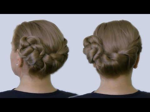Как Быстро Уложить Длинные Волосы в Прическу в Технике Плетения Волос Жгутами Видео Урок 2014 года