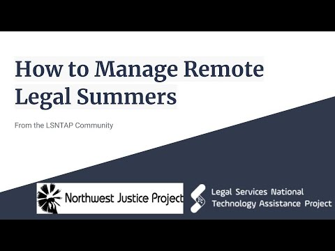 How To Manage Remote Legal Summers