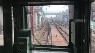 東武スカイツリーライン 竹ノ塚駅周辺 下り急行線 高架化前 前面展望
