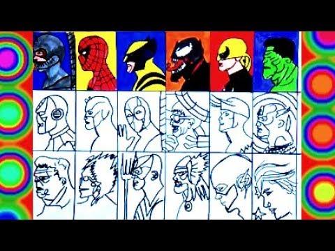 Superheroes All Super Coloring Spiderman Thor Hulk Flash Iron Man Captain America Wolverine Youtube