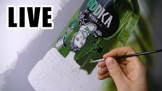 Painting Live - Green Bottle - 11th