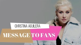 Baixar Christina Aguilera Message To Fighters on Instagram Story