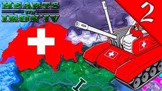 SWITZERLAND WAR WITH AUSTRIA Hearts of Iron 4 Modern Day Mod HOI4 Switzerland Gameplay 2