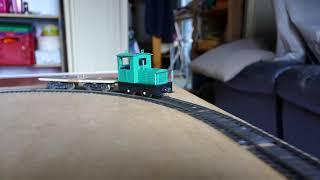 テーブルトップレイアウト アルモデル Oナロー内燃機関車と自作貨車 1000181