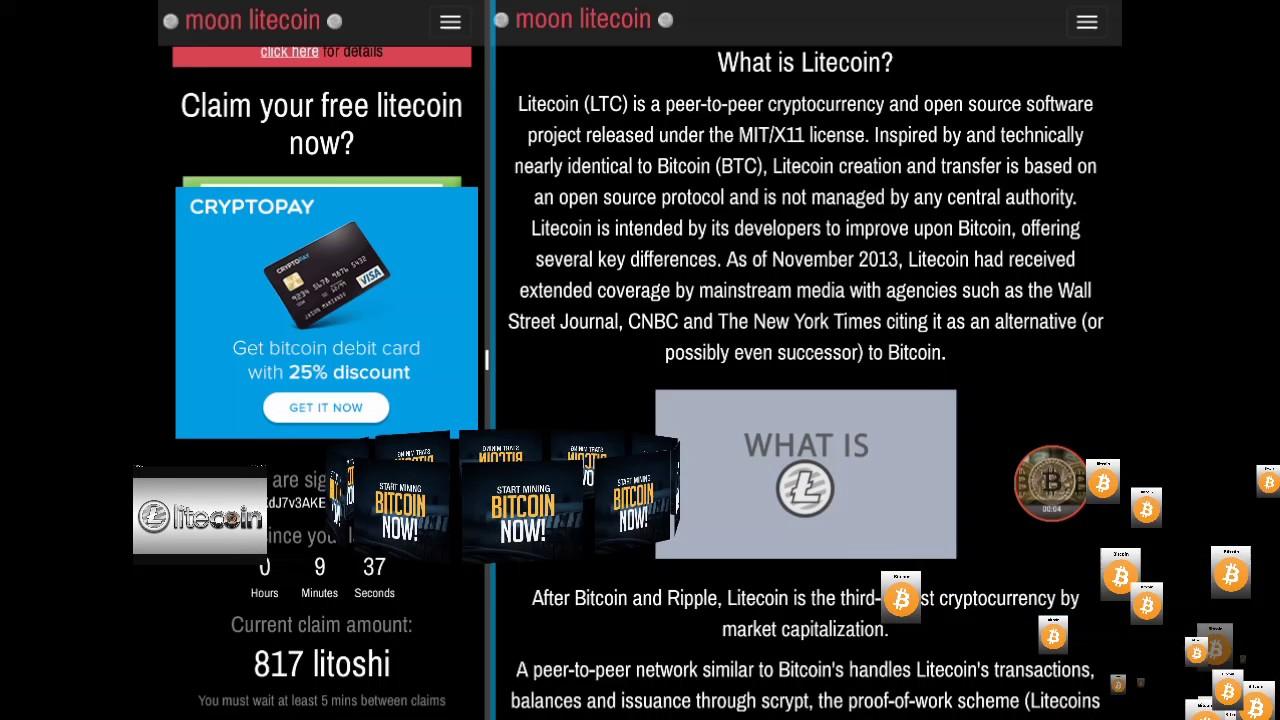 Earn Bitcoins For Referrals Claim Free Litecoin Mult Grad -