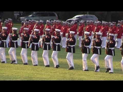 US Marine Drum & Bugle Corps Team and Silent Dril Teams at USNA Summer 2016