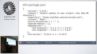 Designing Elm Packages, Steps and Caveats - Elm Singapore