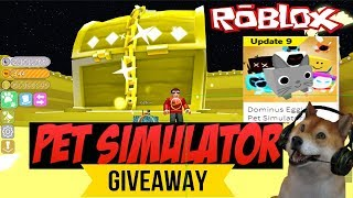 Roblox Pet Simulator Tier 17 Dominus Rainbow Pet Giveaway,Free Damnee 🔴type !ko to enter giveaway