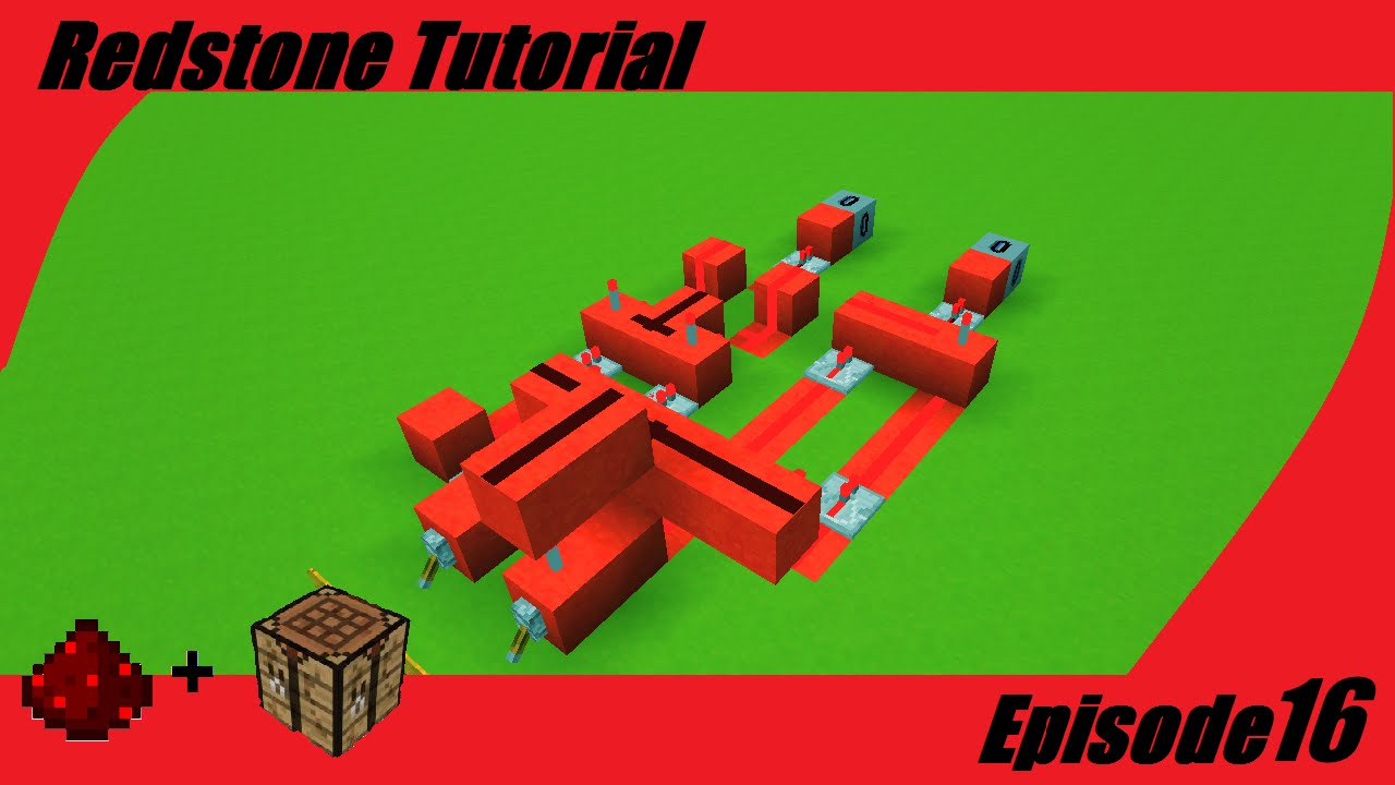 Minecraft Tutorial Basic Redstone Circuits Minecraftopia Youtube