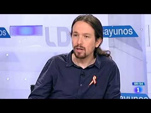 Pablo Iglesias desenmascara a una periodista en TVE