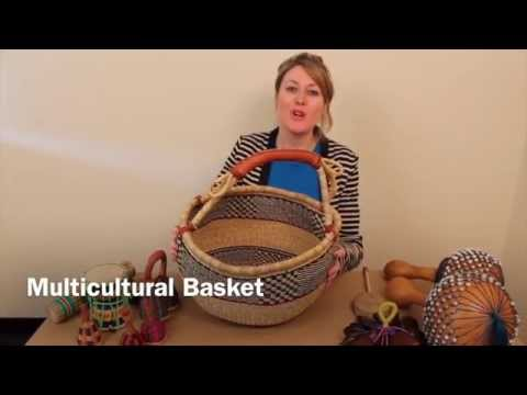 African Multicultural Musical Basket - Authentic African Musical Instruments