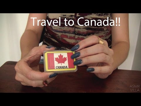 ASMR * Tapping & Scratching * Theme: Travel to Canada * Fast Tapping * No Talking * ASMRVilla