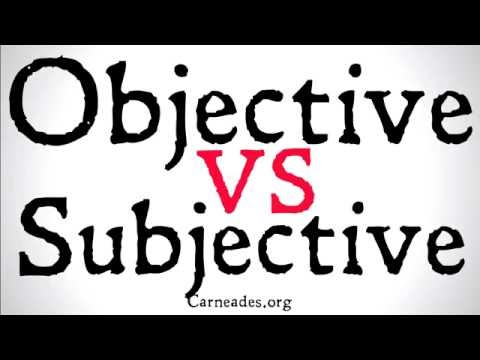 Objective vs Subjective (Philosophical Distinction)