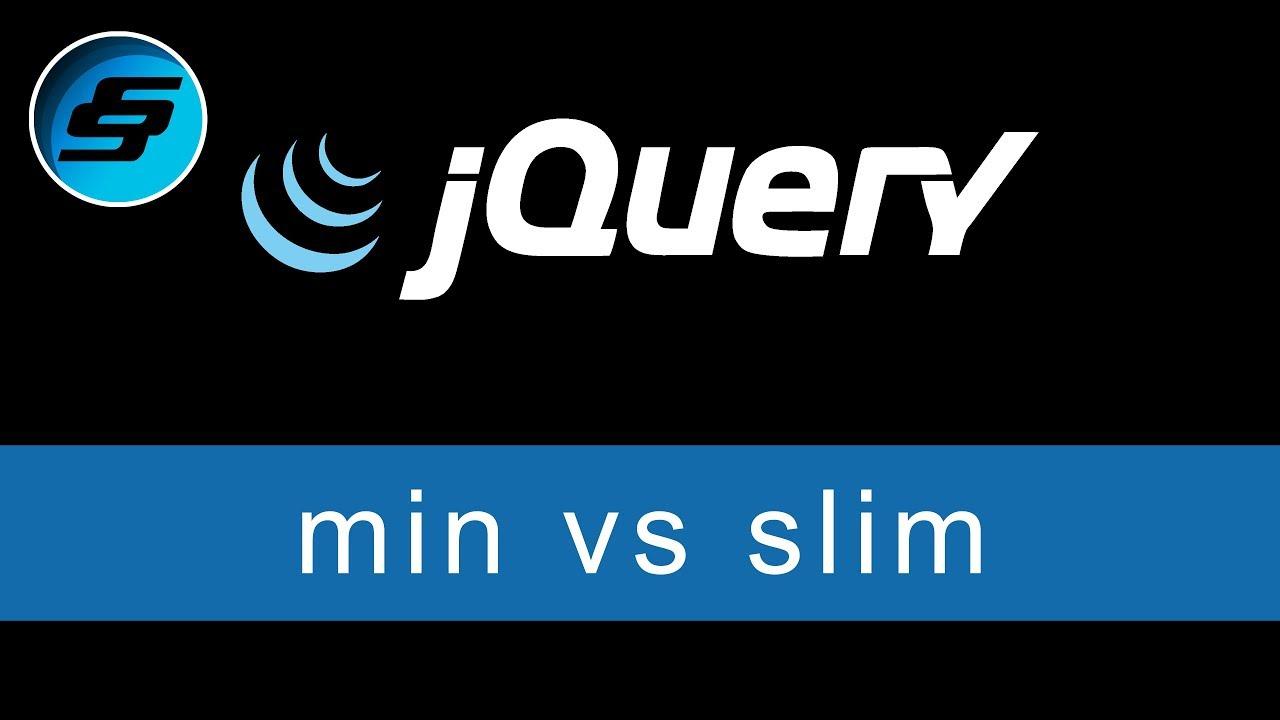 Uncompressed vs minified vs slim vs slim min - jQuery Ultimate