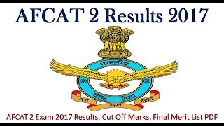 AFCAT 2 2017 RESULT INDIAN AIR FORCE HOW TO CHECK RESULT