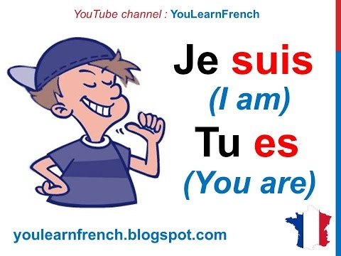 French Lesson 13 - ÊTRE (TO BE) Verb Conjugation Present ten