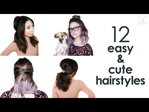 12 Easy and Cute Hairstyles for Date Night // Live Eat Style - YouTube