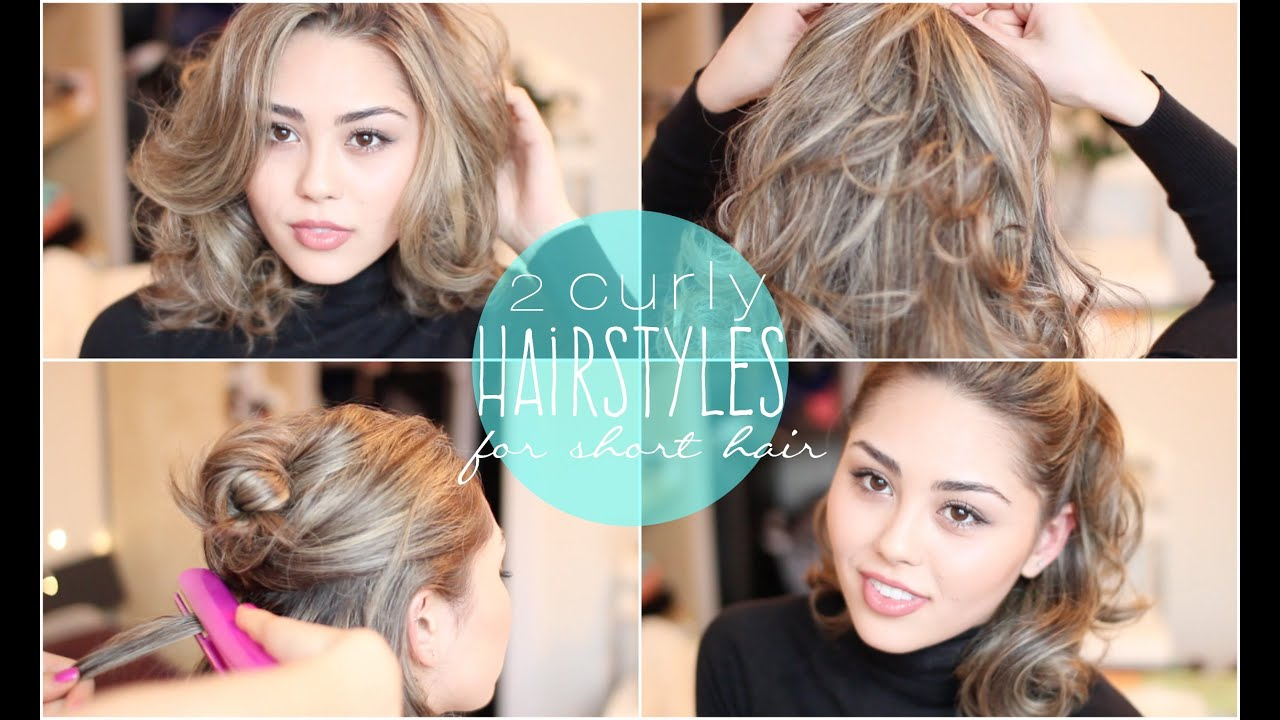 2 Easy Curly Hairstyles for Short Hair featuring the CHI Hair ...