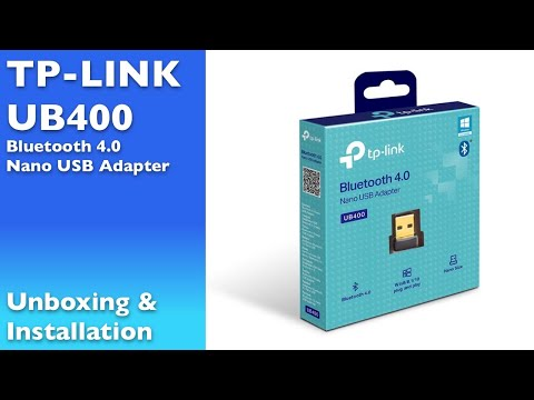 TP-Link UB400 Nano USB Bluetooth 4.0 Adapter Dongle - Unboxing And Test