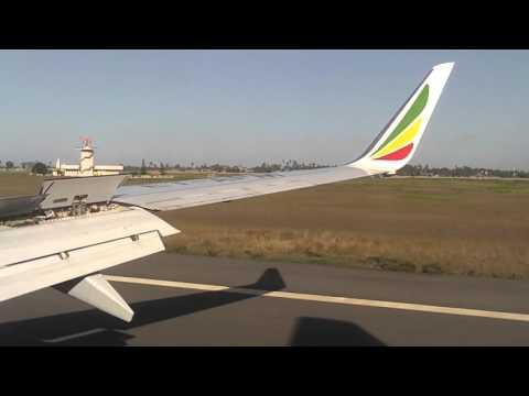 LANDING @ DAR ES SALAM - ETHIOPIAN B737-800