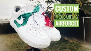 "Custom Air Force 1 ""Mexican Flag"""