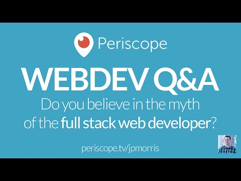 [LIVE Q&A] Do you believe in the myth of the full stack developer?