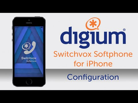 Digium Switchvox Softphone for iPhone |  Softphone Tutorial  | Configure Your iPhone